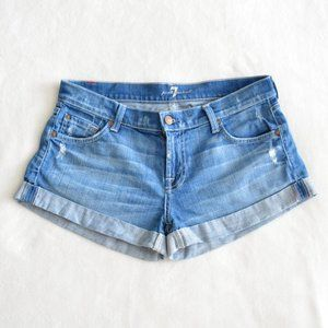 7 For All Mankind Jeans Cuffed Shorts